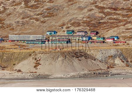 Living Houses On The Hill, Kangerlussuaq Settlement, Greenland