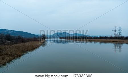 Beautiful Panoramic view of the River Mures