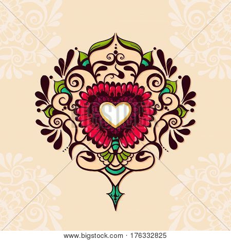 Sketch Of Tattoo Henna Heart