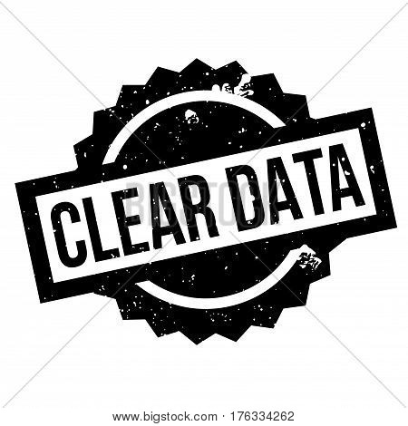 Clear Data rubber stamp. Grunge design with dust scratches. Effects can be easily removed for a clean, crisp look. Color is easily changed.