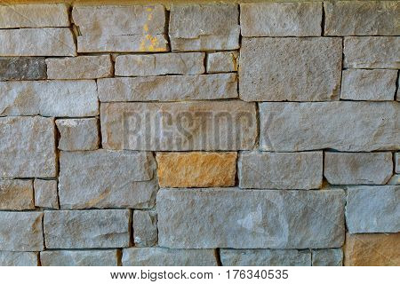 Ancient Antique Stone Wall Of Building Facade.