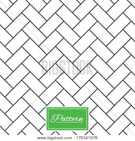 Cobbles grid texture. Stripped geometric seamless pattern. Modern repeating stylish texture. Abstract minimal pattern background. Vector