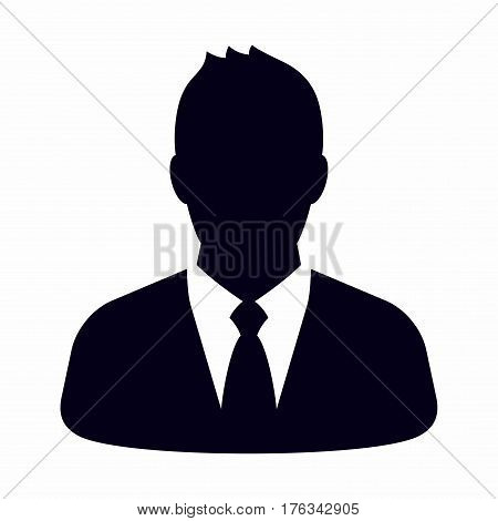 Businessman. Vector icon isolated on white background.