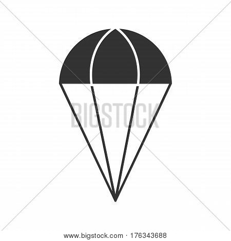 Parachute icon. Silhouette symbol. Negative space. Vector isolated illustration