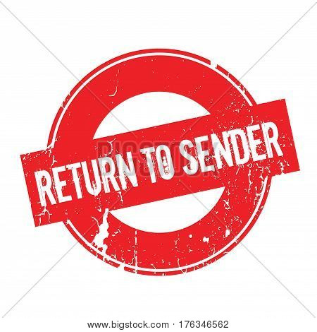 Return To Sender rubber stamp. Grunge design with dust scratches. Effects can be easily removed for a clean, crisp look. Color is easily changed.