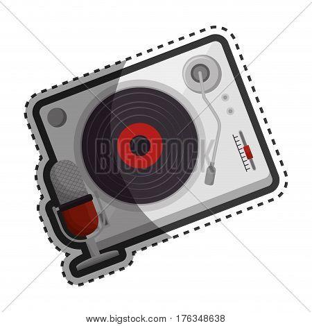 player lp old music vector illustration design