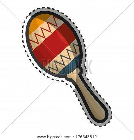 maracas instrument isolated icon vector illustration design
