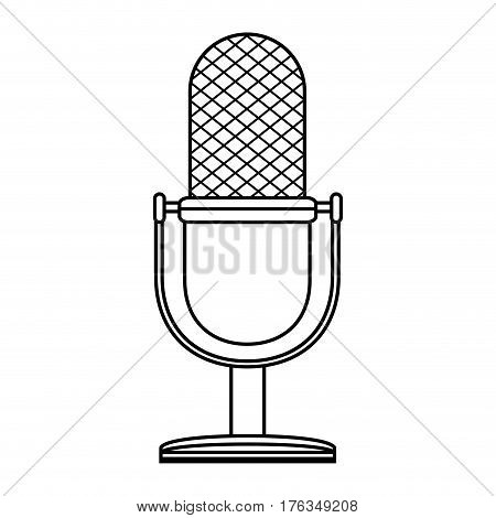 microphone retro audio device vector illustration design