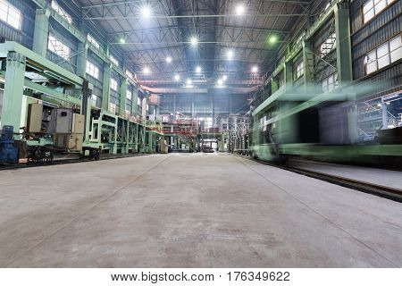 industrial production workshop closeup in a lead and zinc metal factory