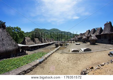 Indigenous traditional village Bena, Flores Island, Indonesia