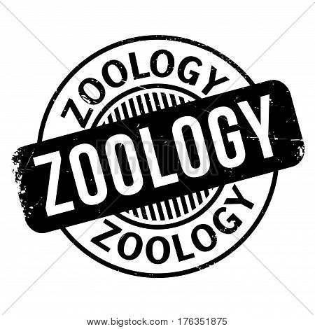 Zoology rubber stamp. Grunge design with dust scratches. Effects can be easily removed for a clean, crisp look. Color is easily changed.