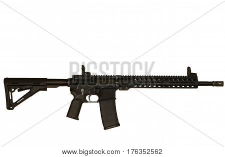 Image of an AR-15 on white background
