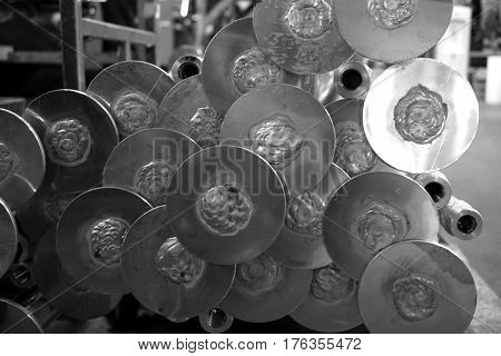 abstract of circle metal shape for background used