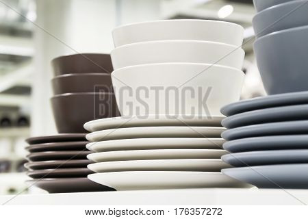 Kitchenware - group of dish and bolw closed up shot