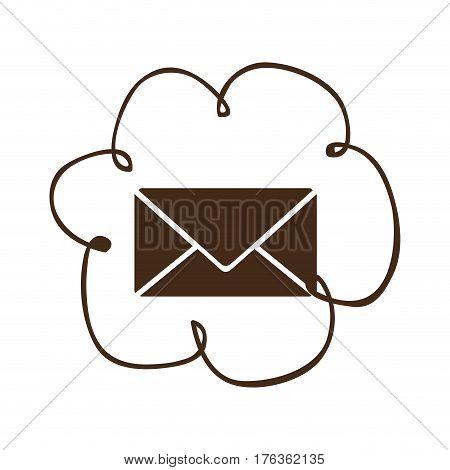 cloud services e-mail network icon, vector illustration design