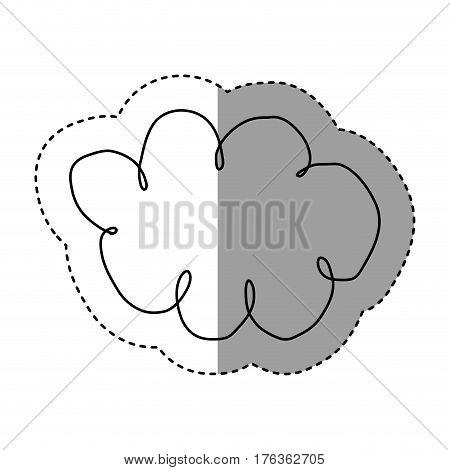 silhouette clound network service icon, vector illustration design