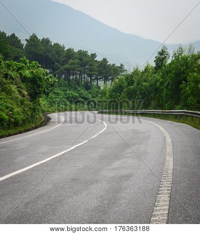 Rural Road In Northern Vietnam