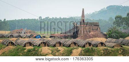 Brick Factory In Vietnam