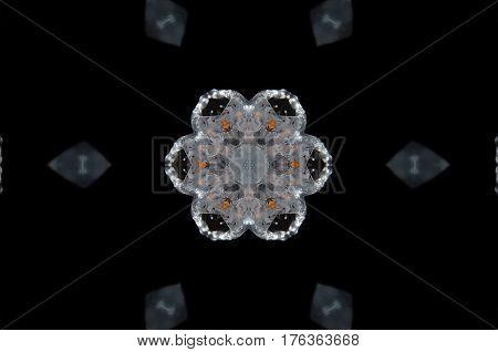 Abstract Candle Mandala