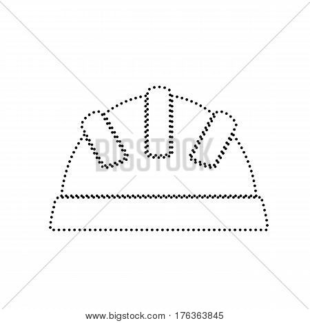Baby sign illustration. Vector. Black dotted icon on white background. Isolated.