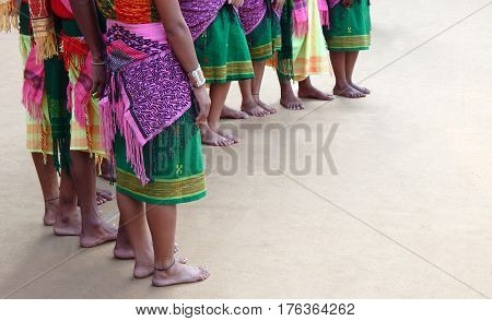 Indian North Eastern states tribal dancers performance