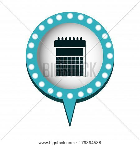 chat bubble with calendar inside, vector illustration design