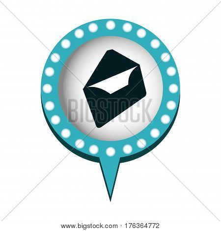 chat bubble with letter open, inside, vector illustration design