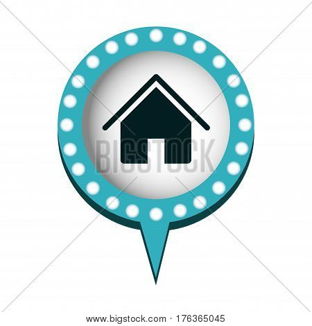 chat bubble with house inside, vector illustration design