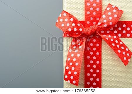 Red Bow On Gift Box