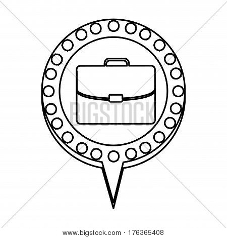 figure chat bubble with suitcase inside, vector illustration design