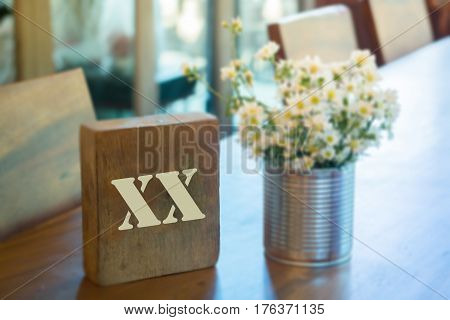 Wooden block with