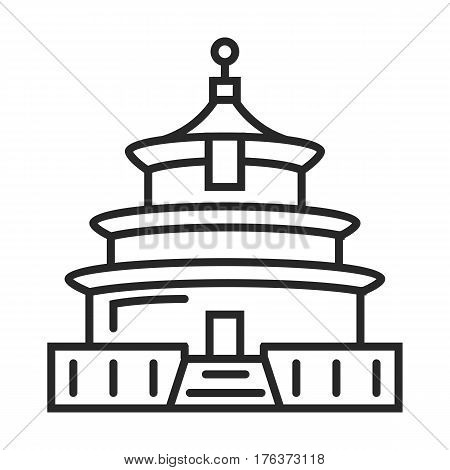 Chinese Temple Of Heaven Vector Icon