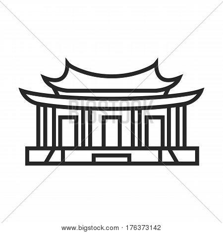 Confucian Temple Vector Icon