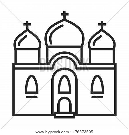Orthodox Church Vector Icon