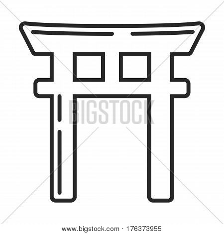 Shinto Symbol Vector Icon