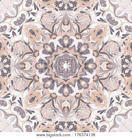 Wallpaper in the style of Baroque. A seamless vector background. Damask floral pattern. delicate lilac ornate tile.