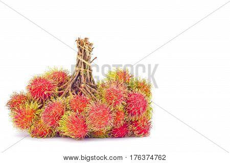 fresh rambutan sweet delicious on white background healthy rambutan tropical fruit food isolated