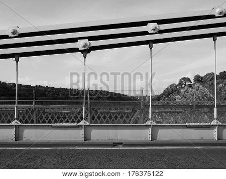 Clifton Suspension Bridge In Bristol In Black And White