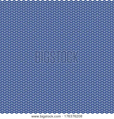 Blue wavy background with pattern vector illustration.
