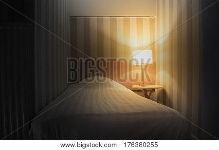 Simple Hotel Room, Single Bed