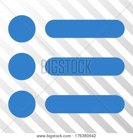 Items vector pictograph. Illustration style is a flat iconic cobalt symbol on a transparent background.