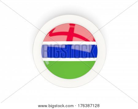 Round Flag Of Gambia With Carbon Frame