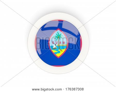 Round Flag Of Guam With Carbon Frame