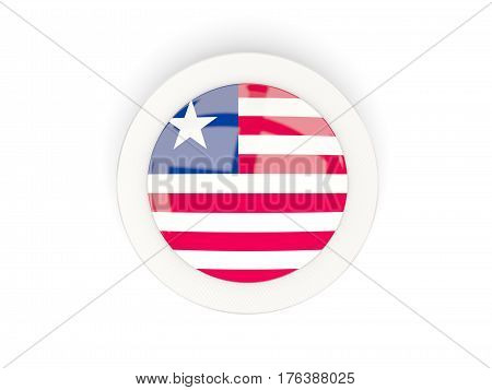 Round Flag Of Liberia With Carbon Frame