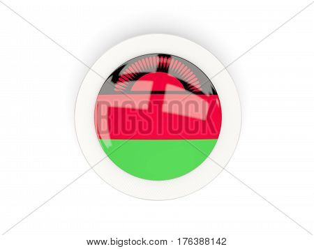 Round Flag Of Malawi With Carbon Frame