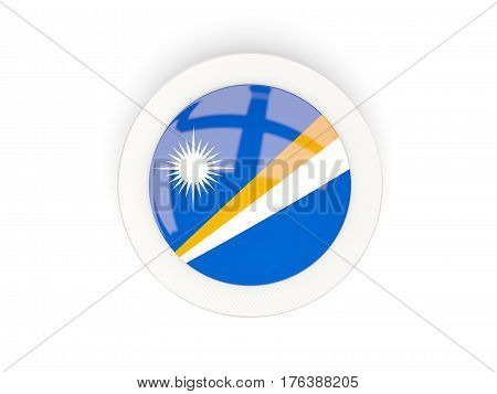 Round Flag Of Marshall Islands With Carbon Frame