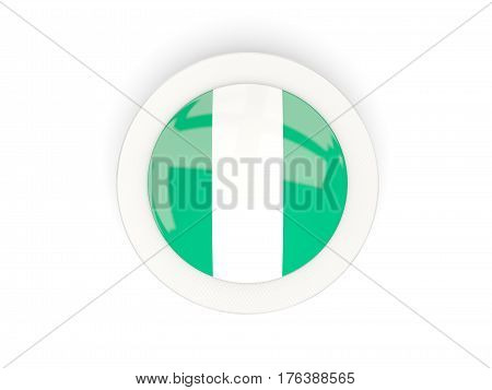 Round Flag Of Nigeria With Carbon Frame