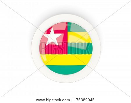 Round Flag Of Togo With Carbon Frame