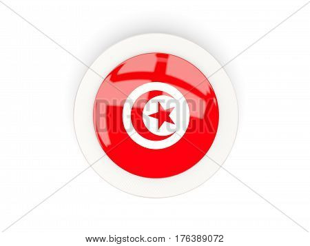 Round Flag Of Tunisia With Carbon Frame
