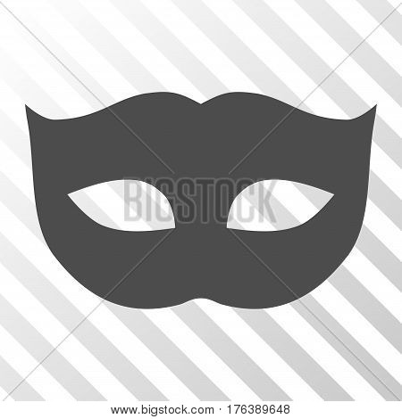 Privacy Mask vector pictograph. Illustration style is a flat iconic gray symbol on a transparent background.